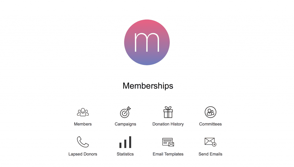 Membership Template Dashboard Layout