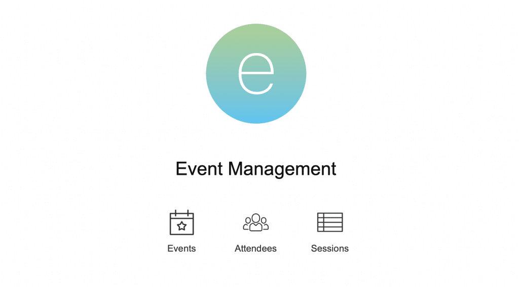 FileMaker Event Management Template Home Screen