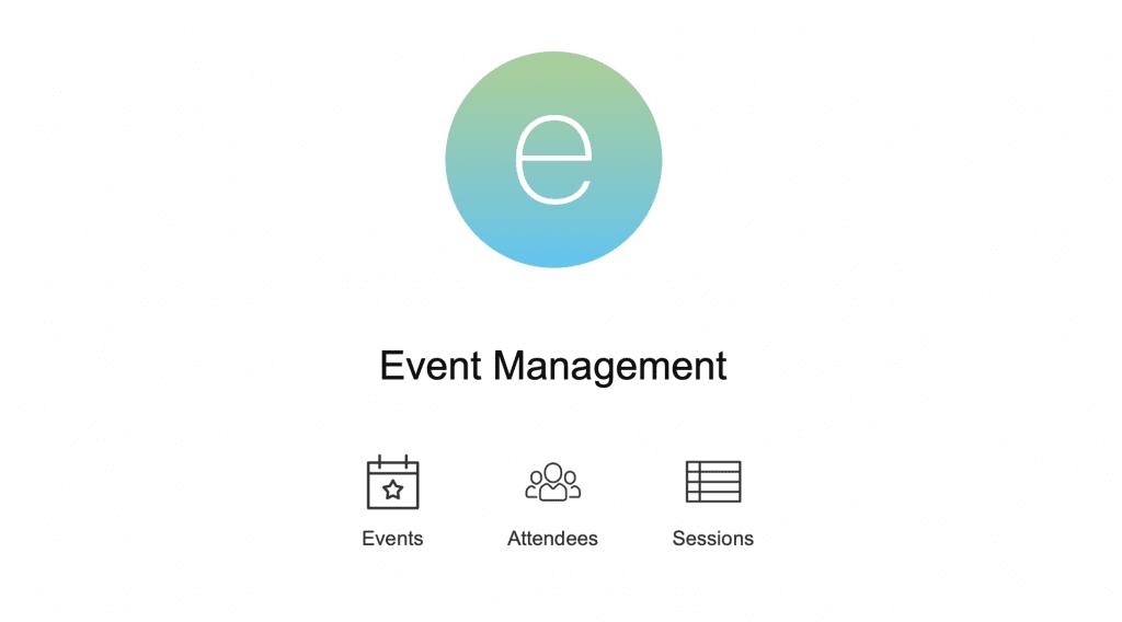FileMaker Event Management Template Home Screen